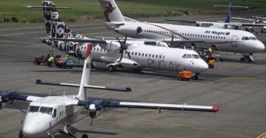 Aircrafts at Port Moresby International Airport