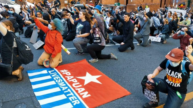 Do Papuan lives matter?: Protesters in Australia (Free West Papua Campaign/Facebook)