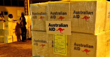 Relief supplies for Solomon Islands