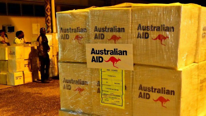 Relief supplies for Solomon Islands