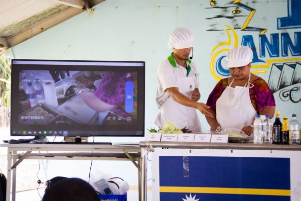 A cooking workshop during the NCDs Prevention Roadshow (TTM in Nauru).
