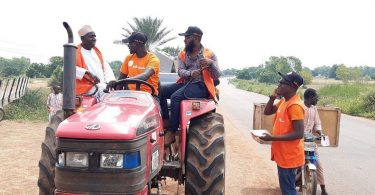 Hello Tractor introducing tractors to farmers in Kano State, Nigeria