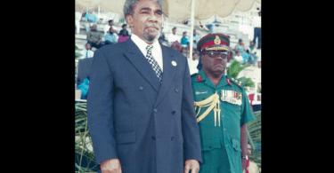 Mekere Morauta as Prime Minister.