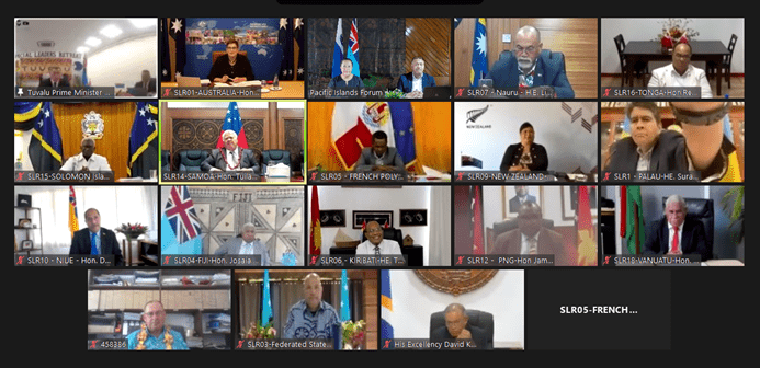 The Pacific Islands Forum leaders meeting on 3 February