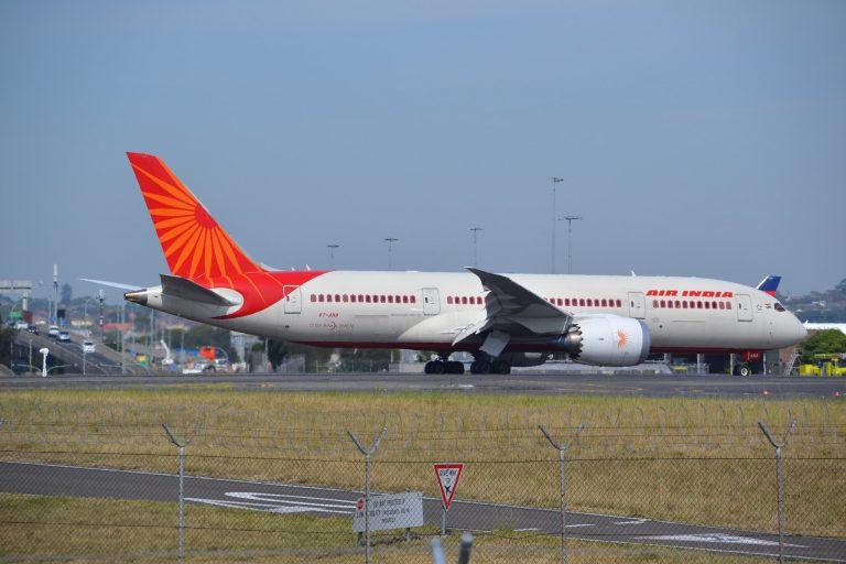 Air India aeroplane at Sydney Airport.