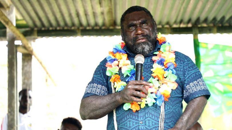 Bougainville President Ishmael Toroama at the Poka Youth Summit in Poka Village