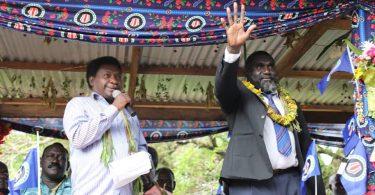 Bougainville President Ishmael Toroama at the launch of Halia Constituency's Development Plan