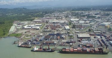 Aerial view of Lae, Morobe, Papua New Guinea
