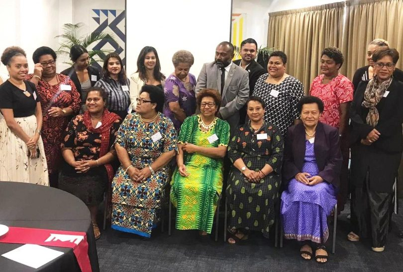 Women leaders speak out on violence against women in politics at a workshop in Fiji, March 2021