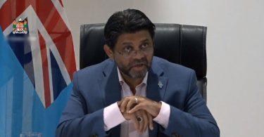 Photograph of Economy Minister Aiyaz Sayed-Khaiyum who delivered the 2021-2022 Fiji National Budget