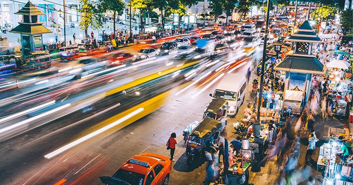 Asian street at night (Global Alms)