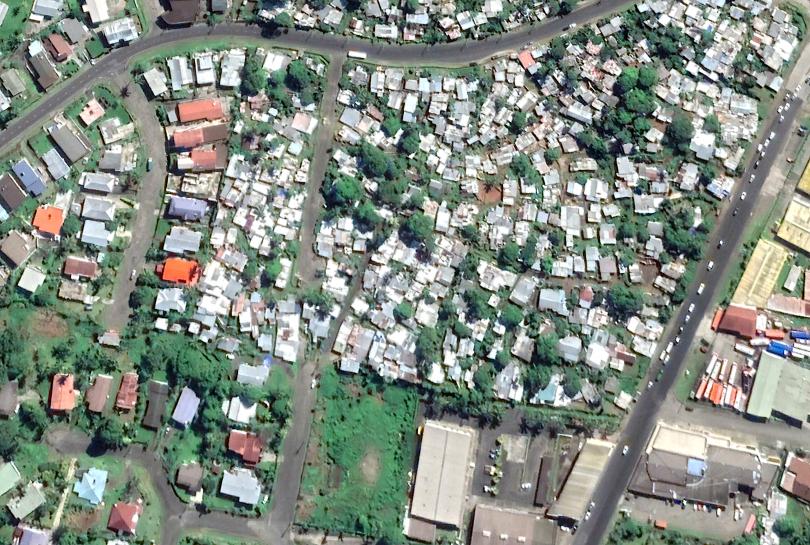 Urban space in Suva (Google Earth 2021