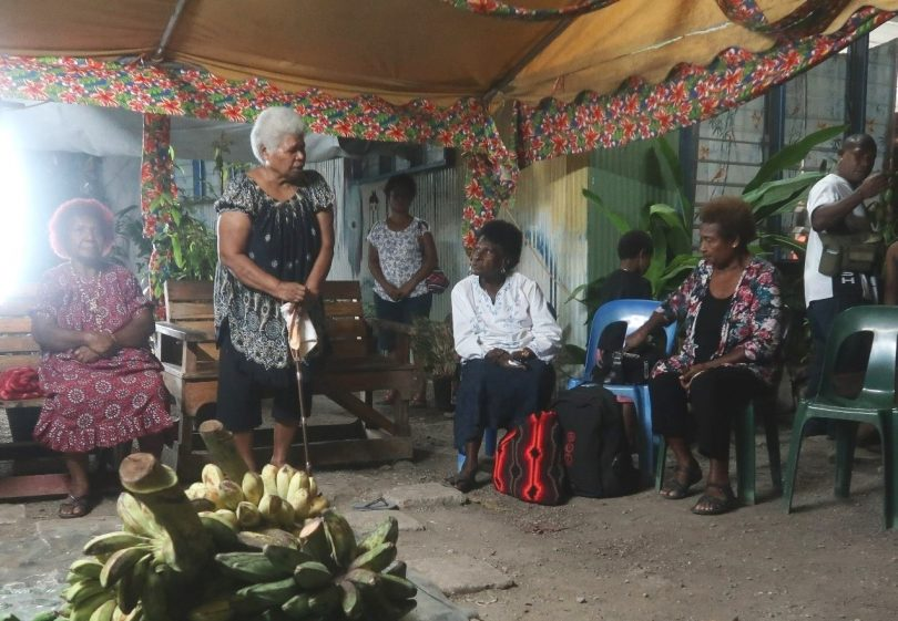 Members of PNG Women In Politics at Nahau Rooney's haus krai (Michelle Nayahamui Rooney)