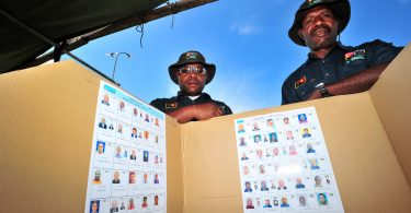 Poll booth in PNG 2012 elections (Defence-DFAT-Flickr)