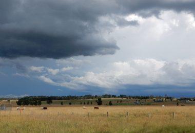 Clouds over a farm in regional Australia (Anne Moorhead)