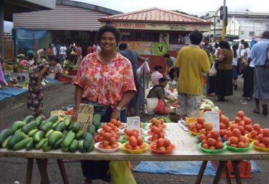 Photograph of a Fijian market
